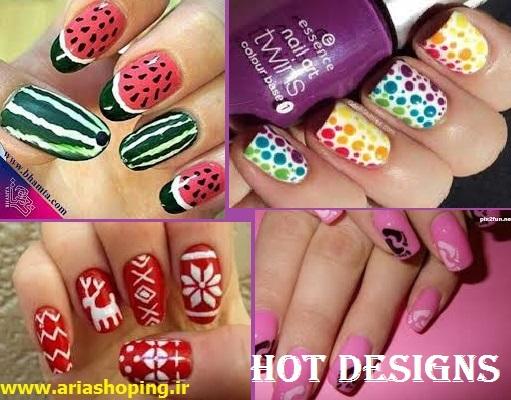 لاک طراحی ناخن Hot Designs