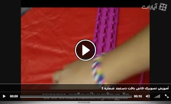 آموزش تصویری فانی بافت دستبند شماره 1