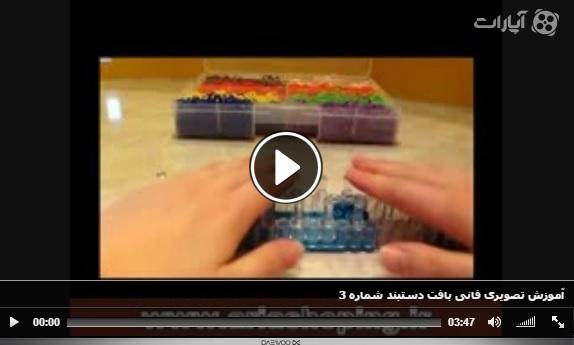آموزش تصویری فانی بافت دستبند شماره 3