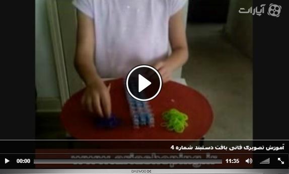 آموزش تصویری فانی بافت دستبند شماره 4